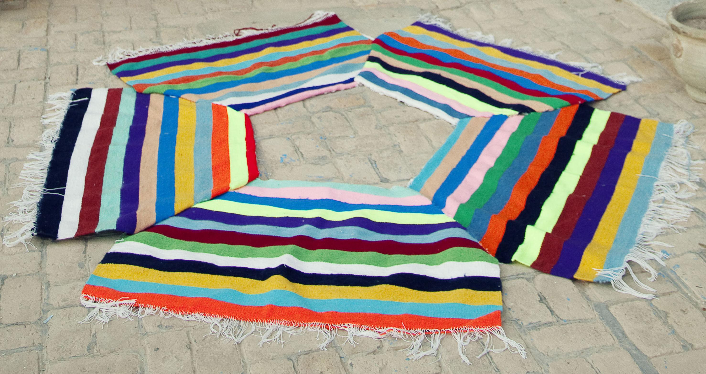 Tappeti Kilim Tunisini : Tappeto kilim de convivialité made in design editions multicolor