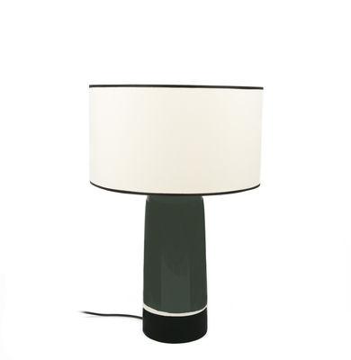 Sicilia Small Tischleuchte / H 49 cm - Keramik - Maison Sarah Lavoine - Weiß,Schwarz,Grün