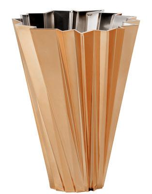 Vase Shanghai / Métallisé - Kartell cuivre en matière plastique