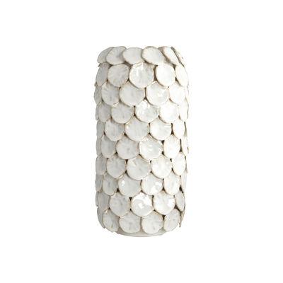 Interni - Vasi - Vaso Dot - / Ceramica - Ø 15 x H 30 cm di House Doctor - Bianco - Ceramica smaltata