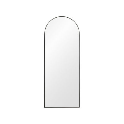 Decoration - Mirrors - Arcus Small Wall mirror - / H 90 cm - MDF by AYTM - H 90 cm / Black - Glass, Painted MDF