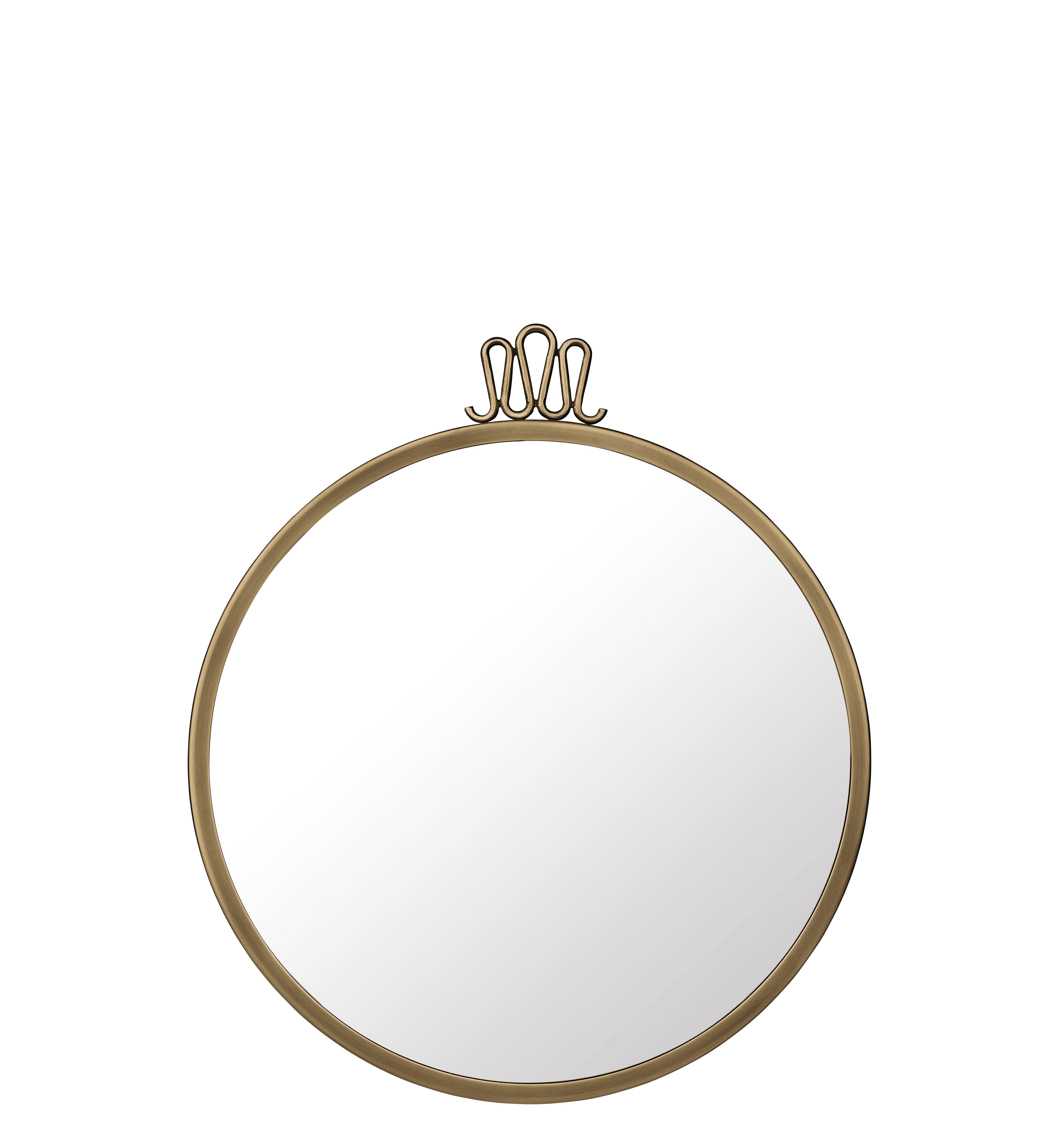 Decoration - Mirrors - Randaccio Wall mirror - Gio Ponti / Ø 42 cm - Brass by Gubi - Ø 42 cm / Brass - Brass