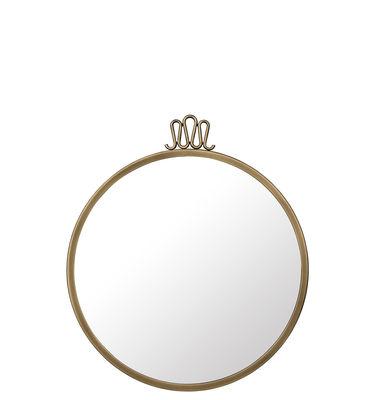 Dekoration - Spiegel - Randaccio Wandspiegel / Gio Ponti - Ø 42 cm - Messing - Gubi - Ø 42 cm / Messing - Messing