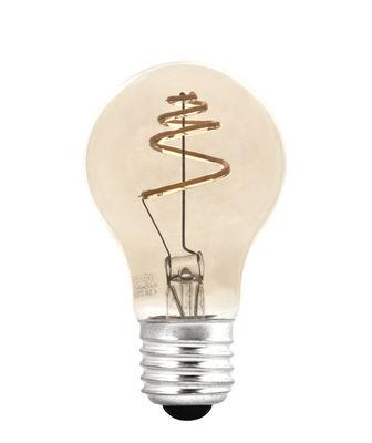 Ampoule LED filaments E27 Shanghai TIP SIRAL / 4,5W = 45W - Pop Corn doré en verre