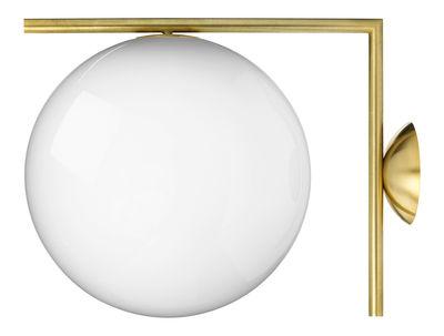 Illuminazione - Lampade da parete - Applique IC W2 - / Ø 30 cm di Flos - Ottone - Acciaio, vetro soffiato