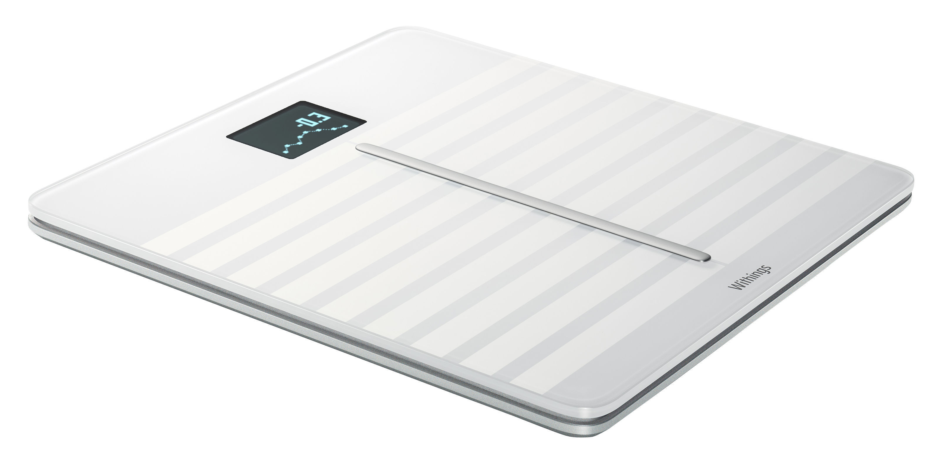 Accessoires - Accessoires salle de bains - Balance connectée Body Cardio / Suivi cardio-vasculaire - Nokia - Blanc - Aluminium, Verre trempé