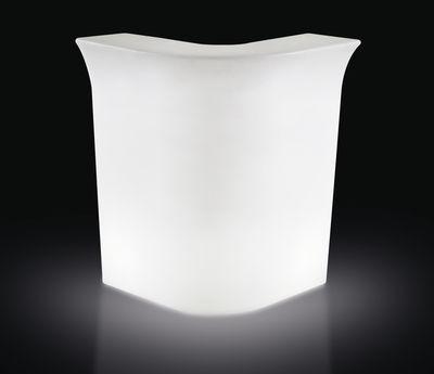 Bar lumineux Jumbo Corner / Module d´angle - Slide blanc en matière plastique