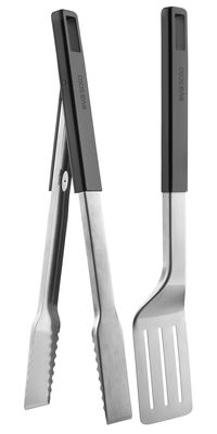 Outdoor - Barbecues & Charcoal Grills - Barbecue set - Tongs and spatula by Eva Solo - Steel / Black handle - Silicone, Steel