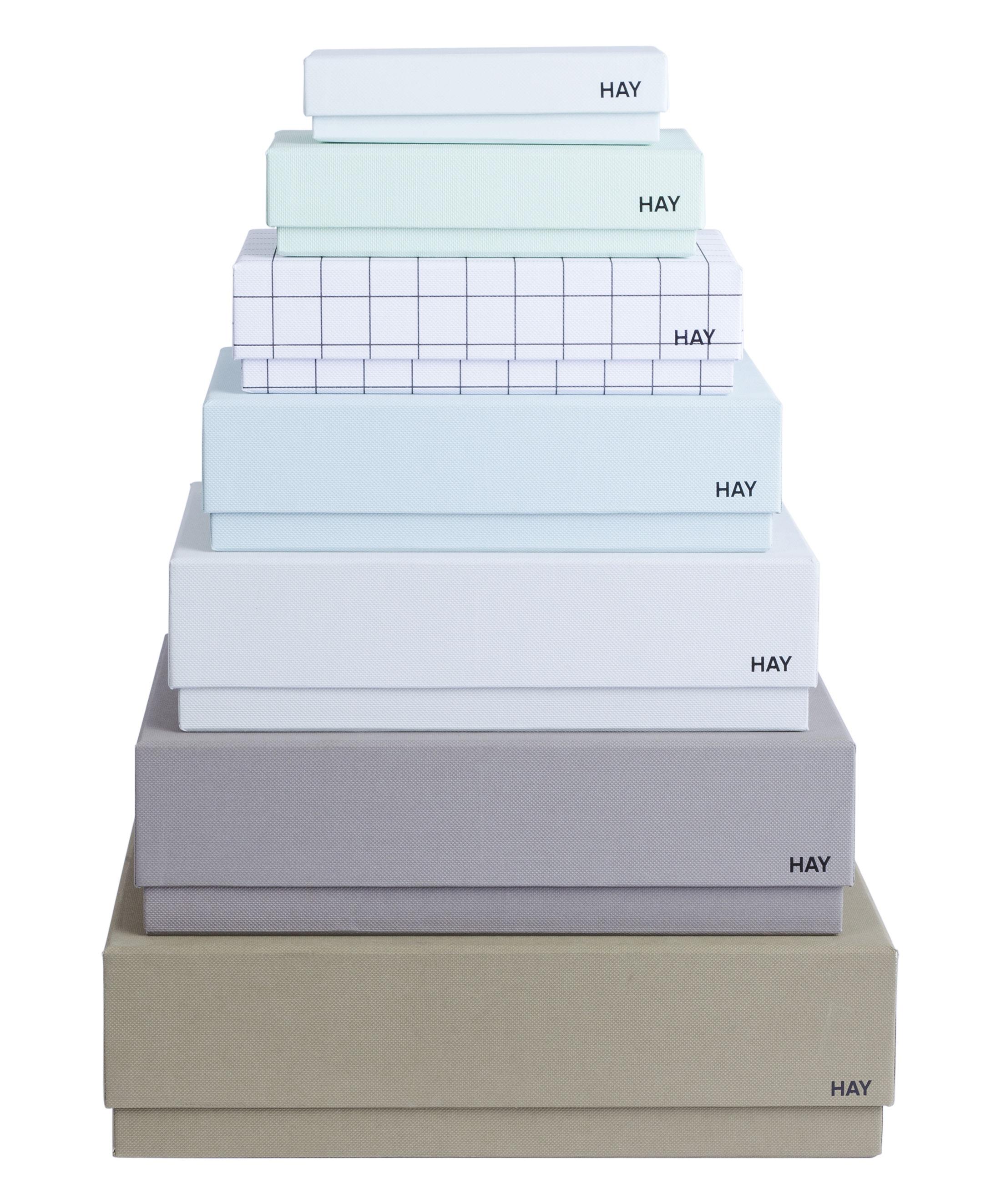 Accessoires - Accessoires bureau - Boîte Box Box / Set 7 boîtes - Hay - Set 7 couleurs masculines / Multicolore - Carton