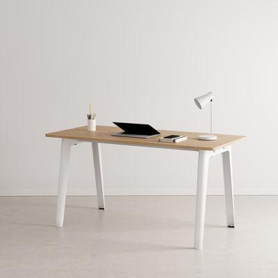 Bureau New Modern / 150 x 70 cm - Chêne éco-certifié - TIPTOE blanc en métal/bois