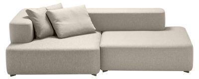 Canapé droit Alphabet / modulable - 2 places - L 210 x P 120 cm - Fritz Hansen beige clair en tissu