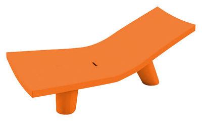Chaise longue Low Lita Lounge - Slide orange en matière plastique