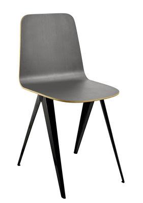 Chaise Sanba / 40 x 50,5 cm - Serax gris en métal/bois