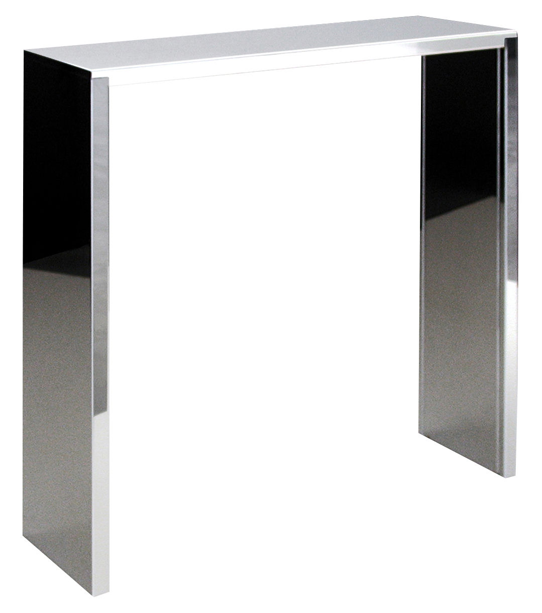 console inox high console miroir l 100 x prof 28 x h 100 cm zeus. Black Bedroom Furniture Sets. Home Design Ideas