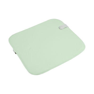 Interni - Cuscini  - Cuscinetto per sedia Color Mix - / 41 x 38 cm di Fermob - Verde Menta - Espanso, Tessuto acrilico