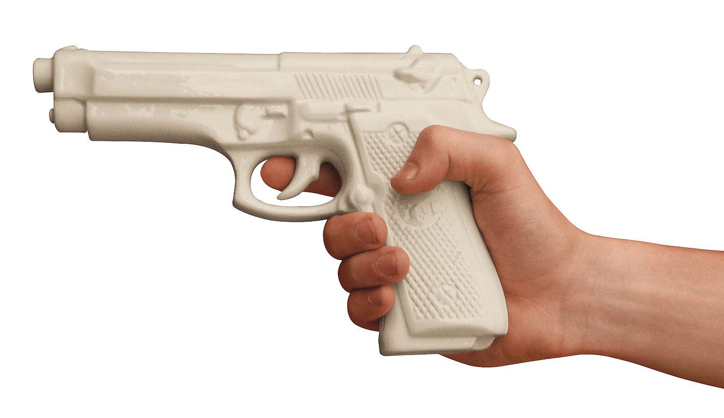 Déco - Objets déco et cadres-photos - Décoration Memorabilia My Gun / Pistolet en porcelaine - Seletti - Blanc - Pistolet - Porcelaine