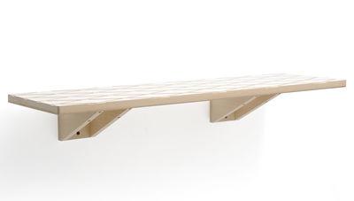 Mobilier - Etagères & bibliothèques - Etagère Marquise rectangulaire - 90 x 25 cm - Y'a pas le feu au lac - Blanc/bois naturel - Hêtre