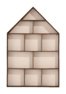 Mobilier - Etagères & bibliothèques - Etagère The little Dorm vitrine - Ferm Living - 11 chambres - Bois / Fond blanc - Contreplaqué