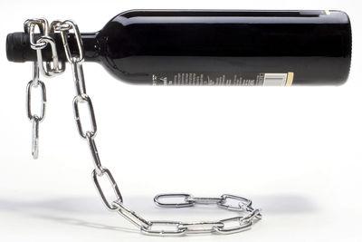 Küche - Gute Laune Accessoires - Chaîne Flaschenhalter - Pa Design - Metall - vernickeltes Eisen