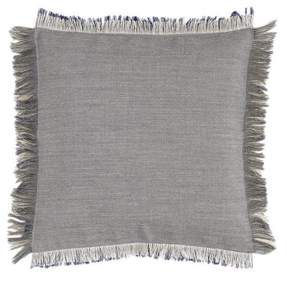 Dekoration - Kissen - Fray Kissen / 50 x 50 cm - Hay - Hellgrau / blaugrau - Schaumstoff, Wolle