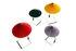 Lampe de table Matin Large / LED - H 52 cm - Tissu & métal - Hay