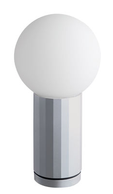 Lampe de table Turn on LED / H 19,5 cm - wrong.london aluminium en métal