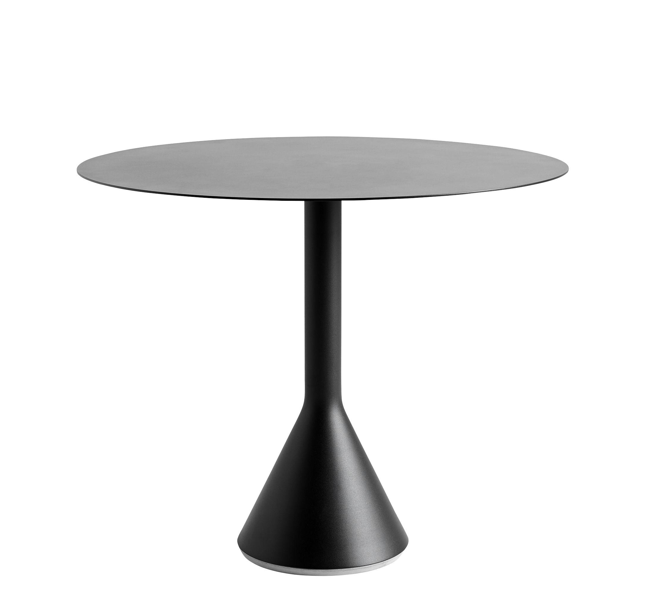 Jardin - Tables de jardin - Table ronde Palissade Cone / Ø 90 cm - Acier - Hay - Anthracite - Acier laqué époxy, Béton