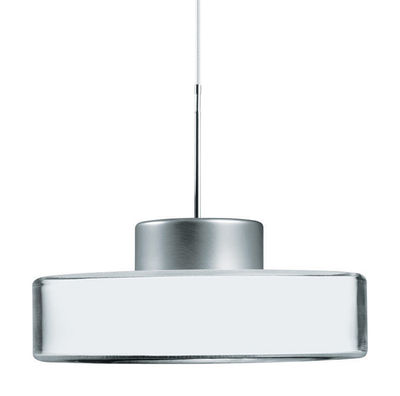 Lighting - Pendant Lighting - Fokus Pendant by Belux - Interchangeable colours : white-blue-green-orange-yellow - Acrylic, Anodized aluminium