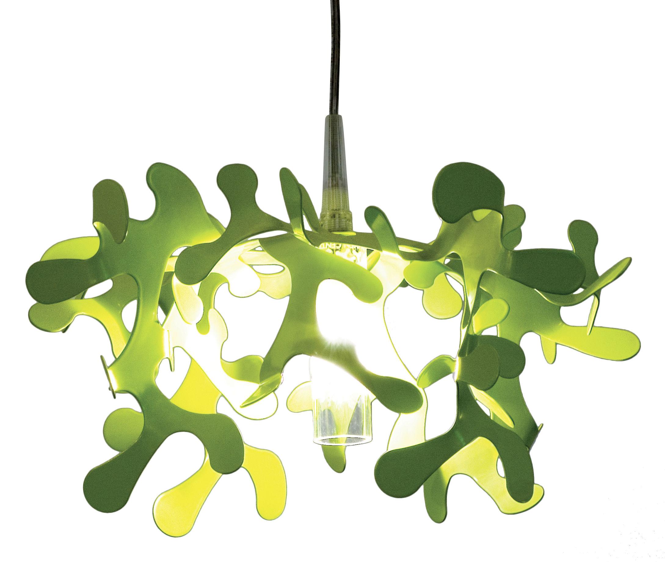 Lighting - Pendant Lighting - Mini Coral Pendant by Lumen Center Italia - Green - Lacquered metal
