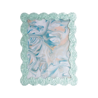 Decoration - Home Accessories - Mint Photo frame - / 22 x 17 cm - Acrylic by & klevering - Pearly mint - Acrylic
