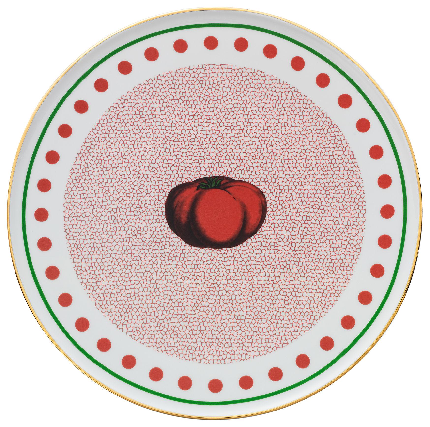 Tavola - Piatti  - Piatto di portata Bel Paese - Pomodoro - / Ø 32 cm di Bitossi Home - Pomodoro / Rosso - Porcellana