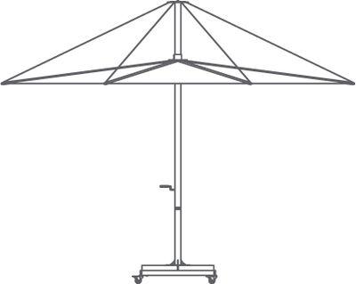 Pied de parasol Inumbra / Béton - Roulettes - Pour parasols Inumbra - Extremis béton en métal
