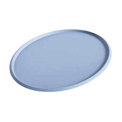 Plateau Ellipse XL / 47 x 37 cm - Métal - Hay bleu clair en métal