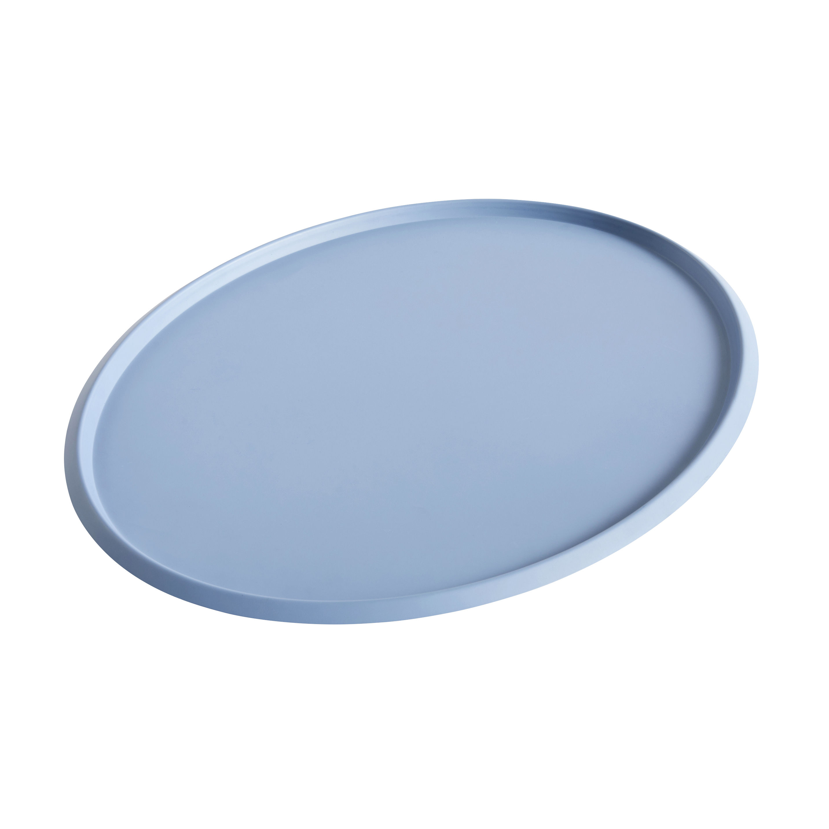 Arts de la table - Plateaux - Plateau Ellipse XL / 47 x 37 cm - Métal - Hay - Bleu clair - Acier peint