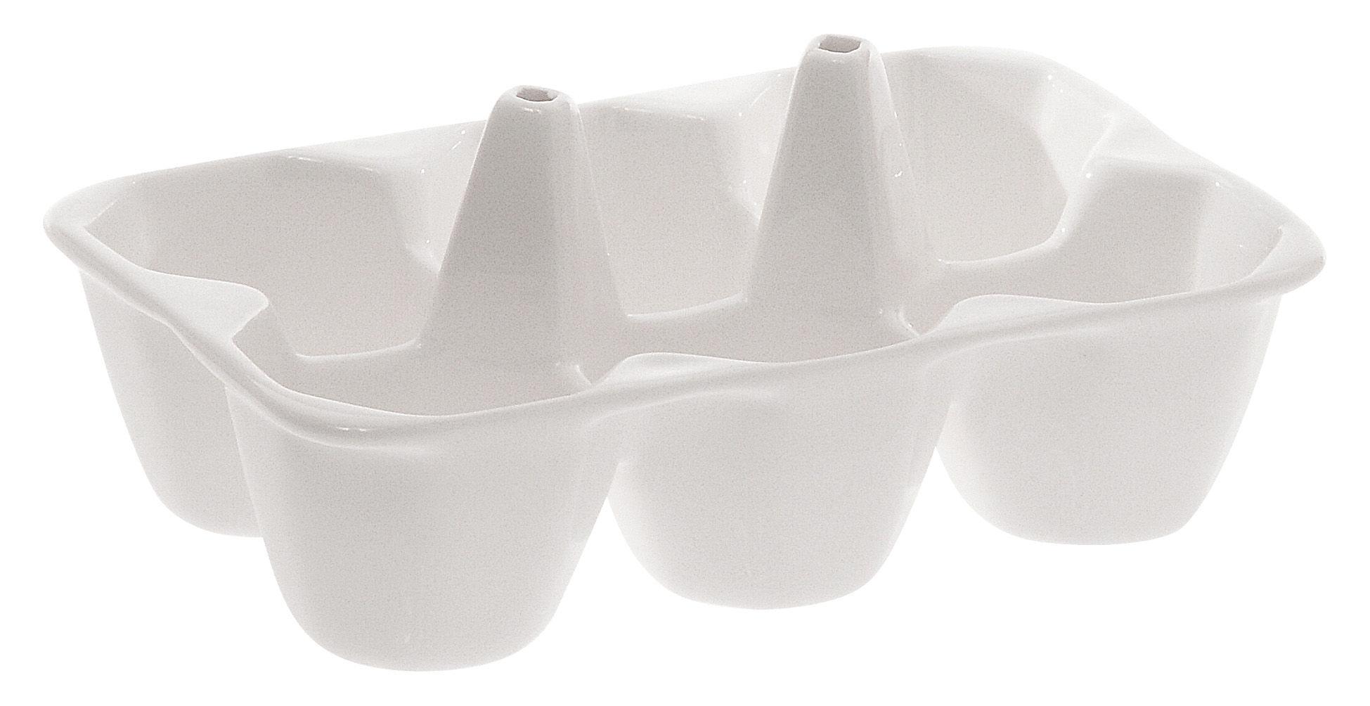 Tischkultur - Platten - Estetico quotidiano Platte Teller mit 6 Fächern - Seletti - Weiß - Teller mit 6 Fächern - Porzellan