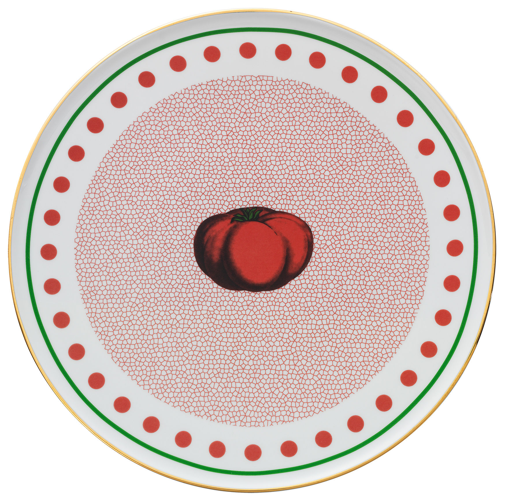 Tableware - Plates - Bel Paese - Pomodoro Presentation plate - / Ø 32 cm by Bitossi Home - Tomato / Red - China