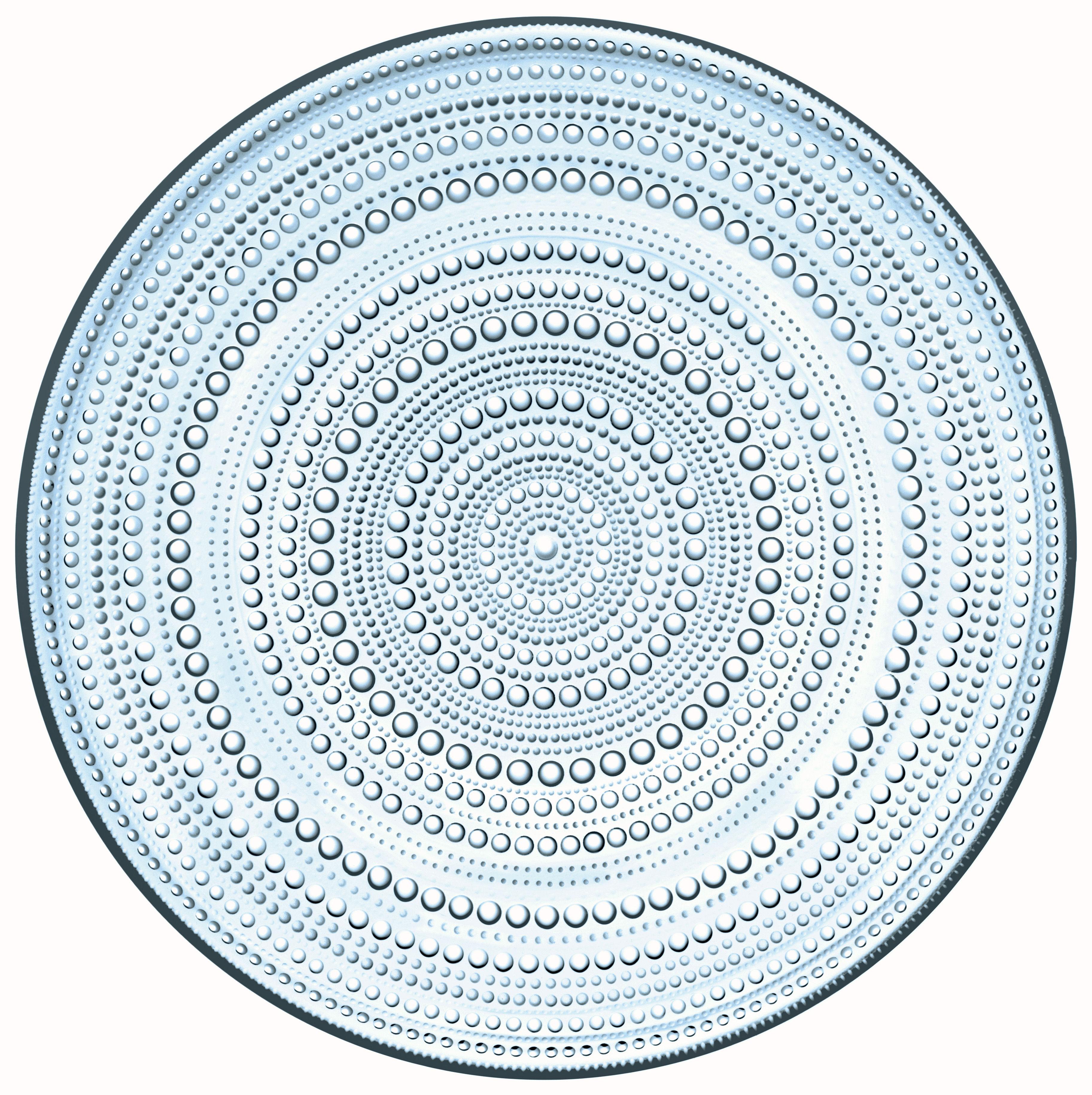 Tableware - Plates - Kastehelmi Presentation plate - Ø 32 cm by Iittala - Light blue - Glass