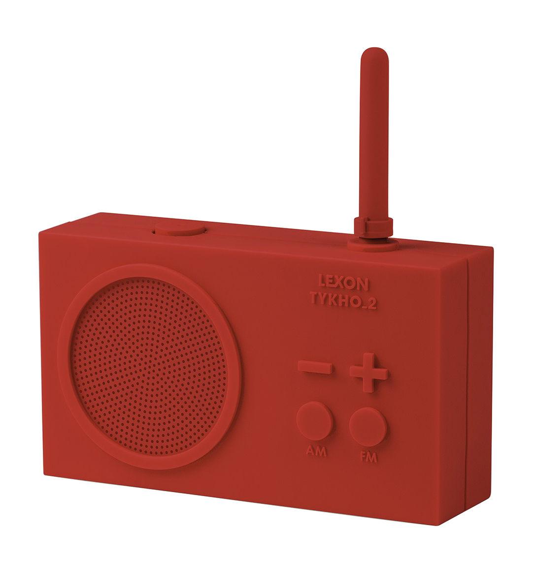 radio sans fil tykho 2 rechargeable usb rouge lexon made in design. Black Bedroom Furniture Sets. Home Design Ideas