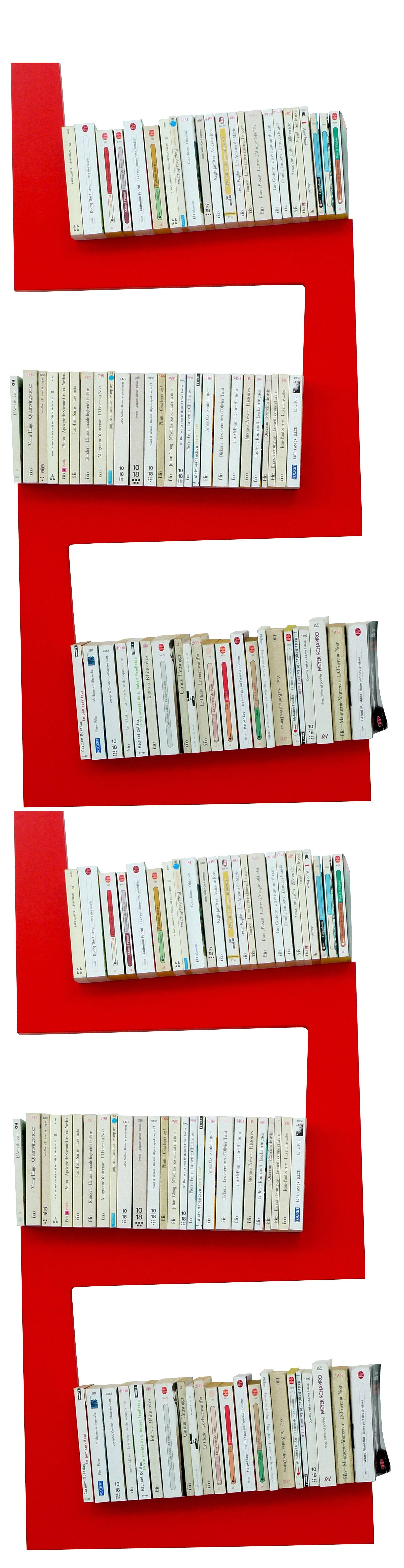 Möbel - Regale und Bücherregale - TwoSnakes Regal 2-er Set - La Corbeille - rot - lackierte Holzfaserplatte