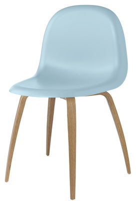 Scopri sedia gubi 5 guscio blu base quercia di gubi for Sedie design 3d