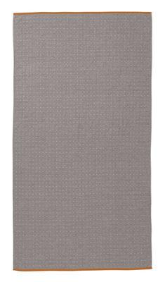 Serviette de plage Sento / Organic - 180 x 100 cm - Ferm Living orange,gris en tissu