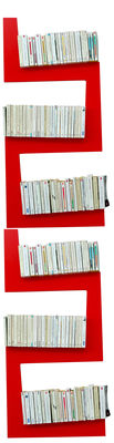 Furniture - Bookcases & Bookshelves - TwoSnakes Shelf - Set of 2 by La Corbeille - Red - Lacquered MDF