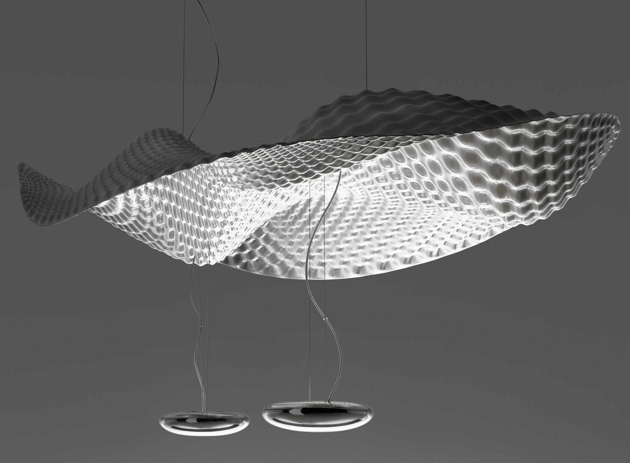 Illuminazione - Lampadari - Sospensione Cosmic Angel di Artemide - Specchio - Alluminio lucido, Materiale plastico