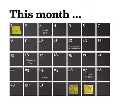 Dekoration - Büro - Kalender Sticker - Ferm Living - Schwarz - Vinyl