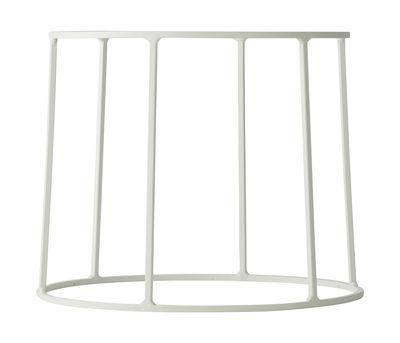 Outdoor - Vasi e Piante - Supporto / H 20 cm - Per vaso e lampada a olio Wire - Menu - Bianco - Acciaio laccato opaco