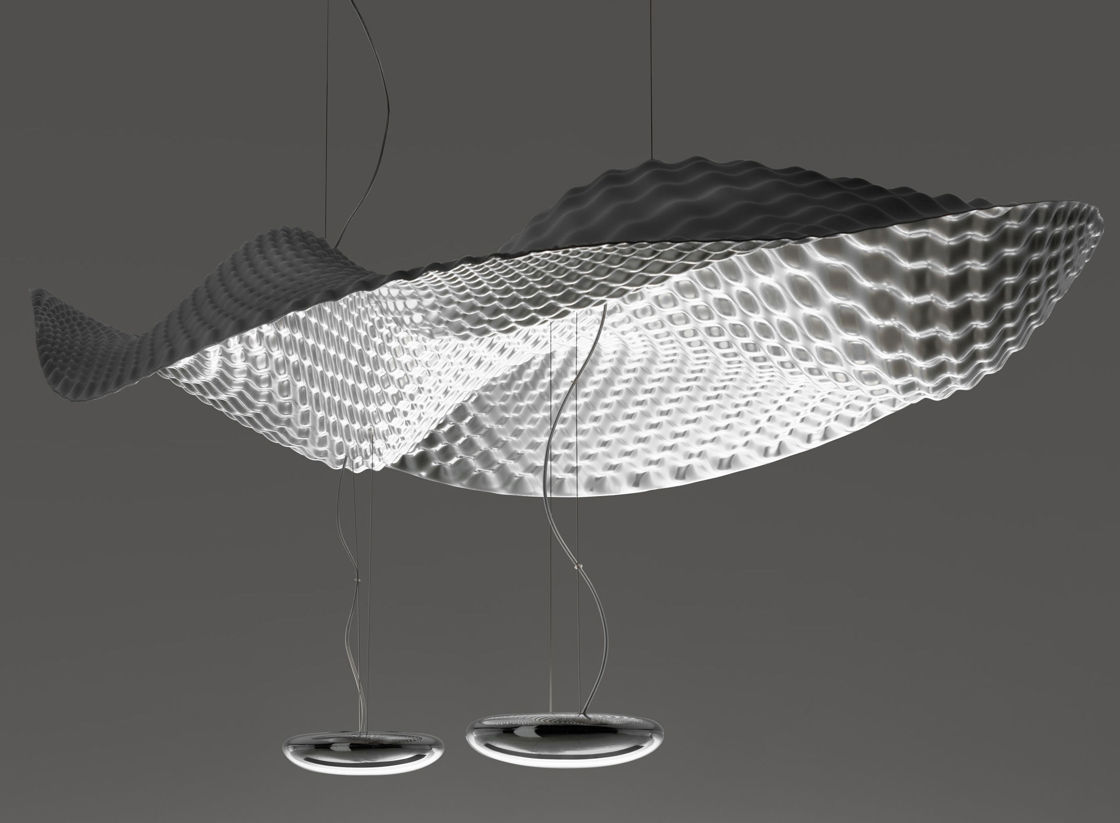 Luminaire - Suspensions - Suspension Cosmic Angel - Artemide - Miroir - Aluminium poli, Matière plastique