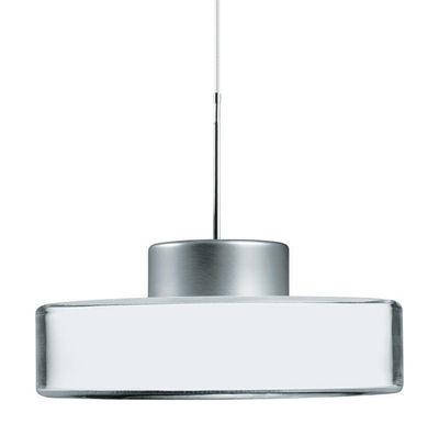 Luminaire - Suspensions - Suspension Fokus / Avec 5 filtres colorés interchangeables - Belux - Interchangeable : blanc / orange / jaune / vert / bleu - Acrylique, Aluminium anodisé