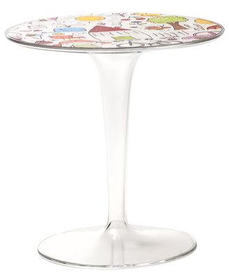Table enfant Tip Top KIDS / Plateau décoré - Kartell multicolore/transparent en matière plastique