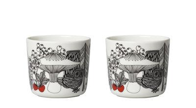 Tasse à café Veljekset / Sans anse - Set de 2 - Marimekko blanc,rouge,noir en céramique