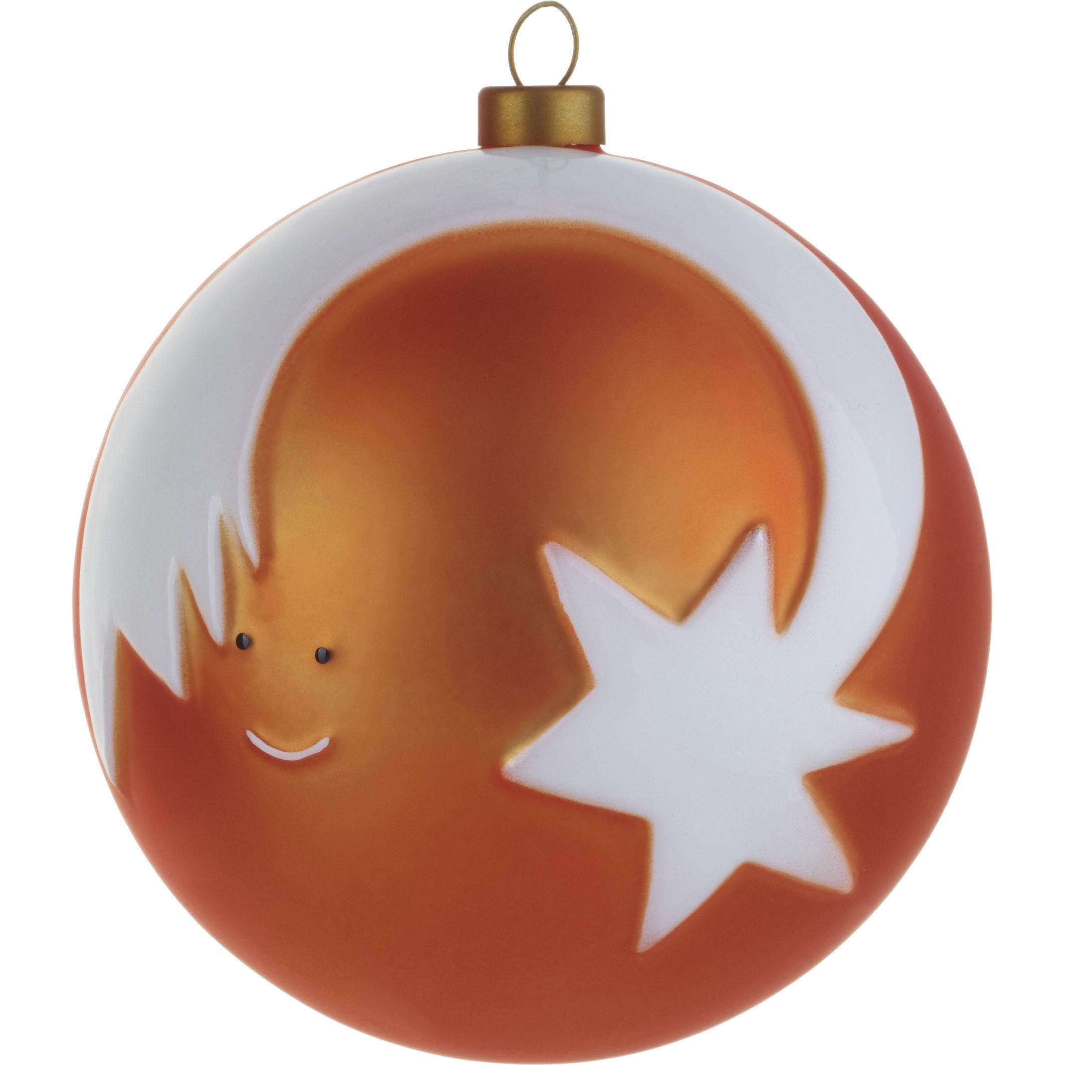 Dekoration - Dekorationsartikel - Stella Cometta Weihnachtskugel / Sternschnuppe - A di Alessi - Sternschnuppe - rot & weiß - mundgeblasenes Glas